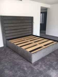 Kingsiz bed head with base Panel Design1